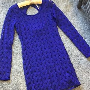 Gorgeous royal blue dress by Free People XS lined